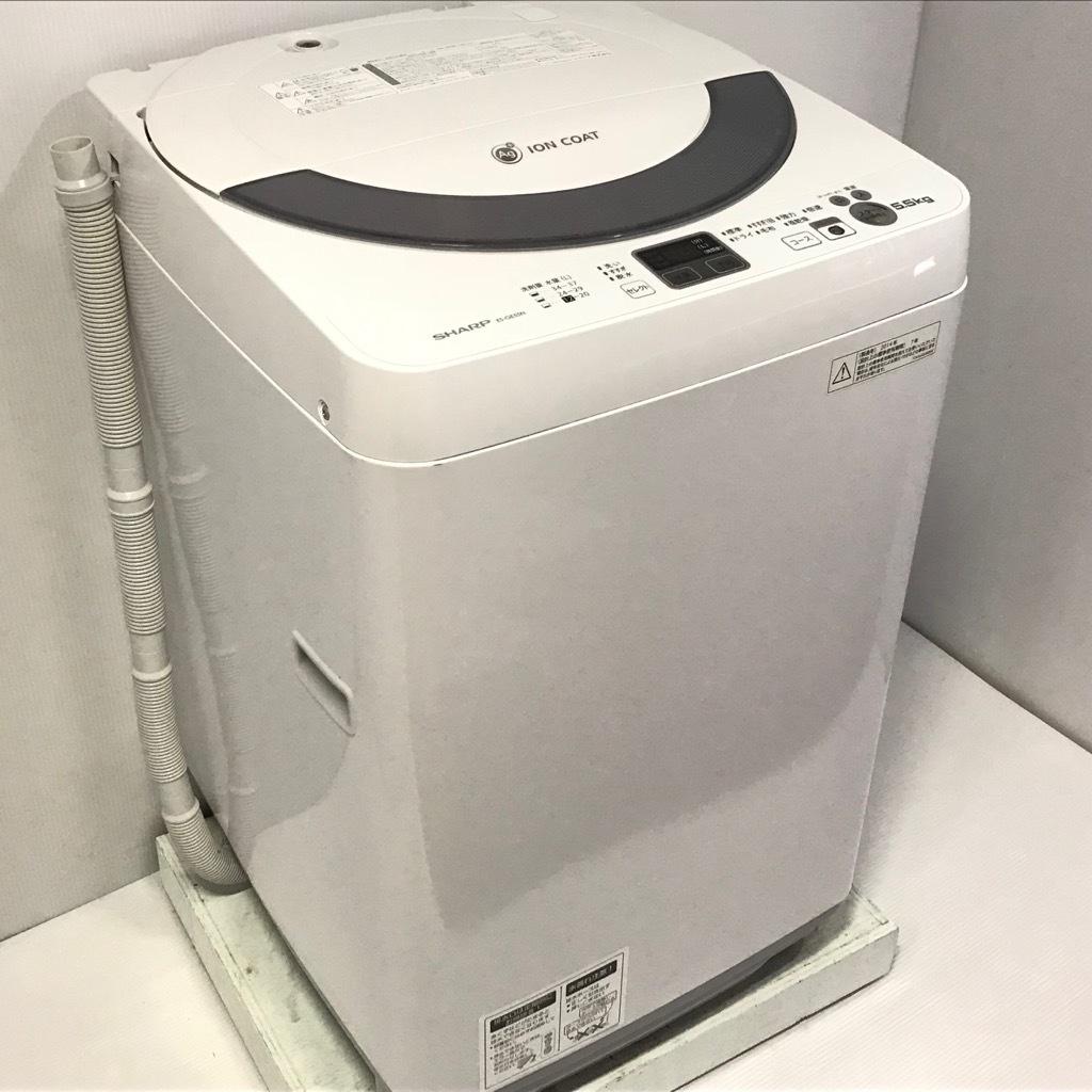 5.5kg 全自動洗濯機 シャープ Ag+イオン ES-GE55N-S 2014年製造