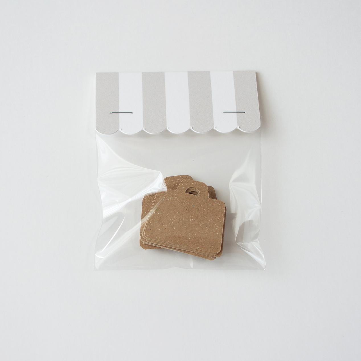 かばん型タグ 20枚入 クラフト(茶)