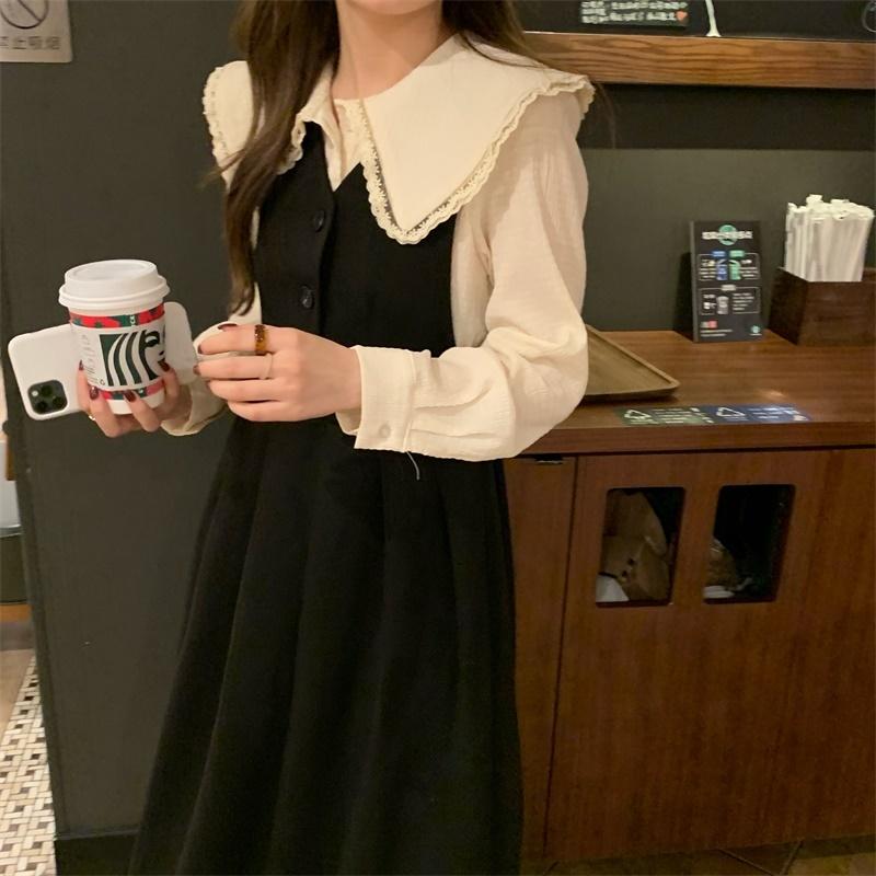 〈カフェシリーズ〉カフェにいきたくなるサスペンダースカートセット【cafe suspender skirt set】