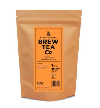 BREW TEA Co. ブリューティーカンパニー leaf tea 茶葉 500g Lemon & Ginger レモンアンドジンジャー