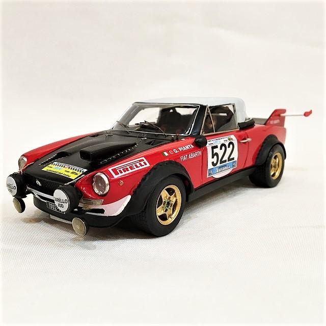 Fiat 124 Spider Abarth  GR.5 Giro d'Italia 1973 1/24【IV MODEL FACTORY】【1個のみ】【税込価格】