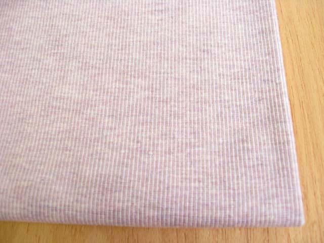 J&B定番 綿・レーヨン しもふり調スパンリブ 紫がかった杢ピンク NTM-2470