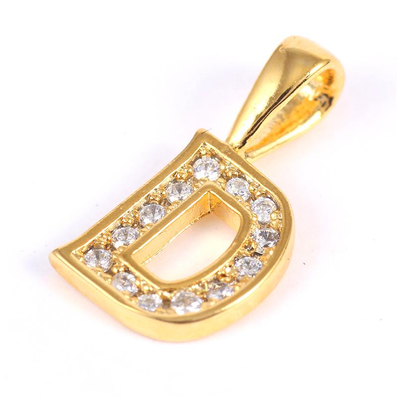 K18GP 【D】ダイヤモンドアルファベット パヴェ チャーム