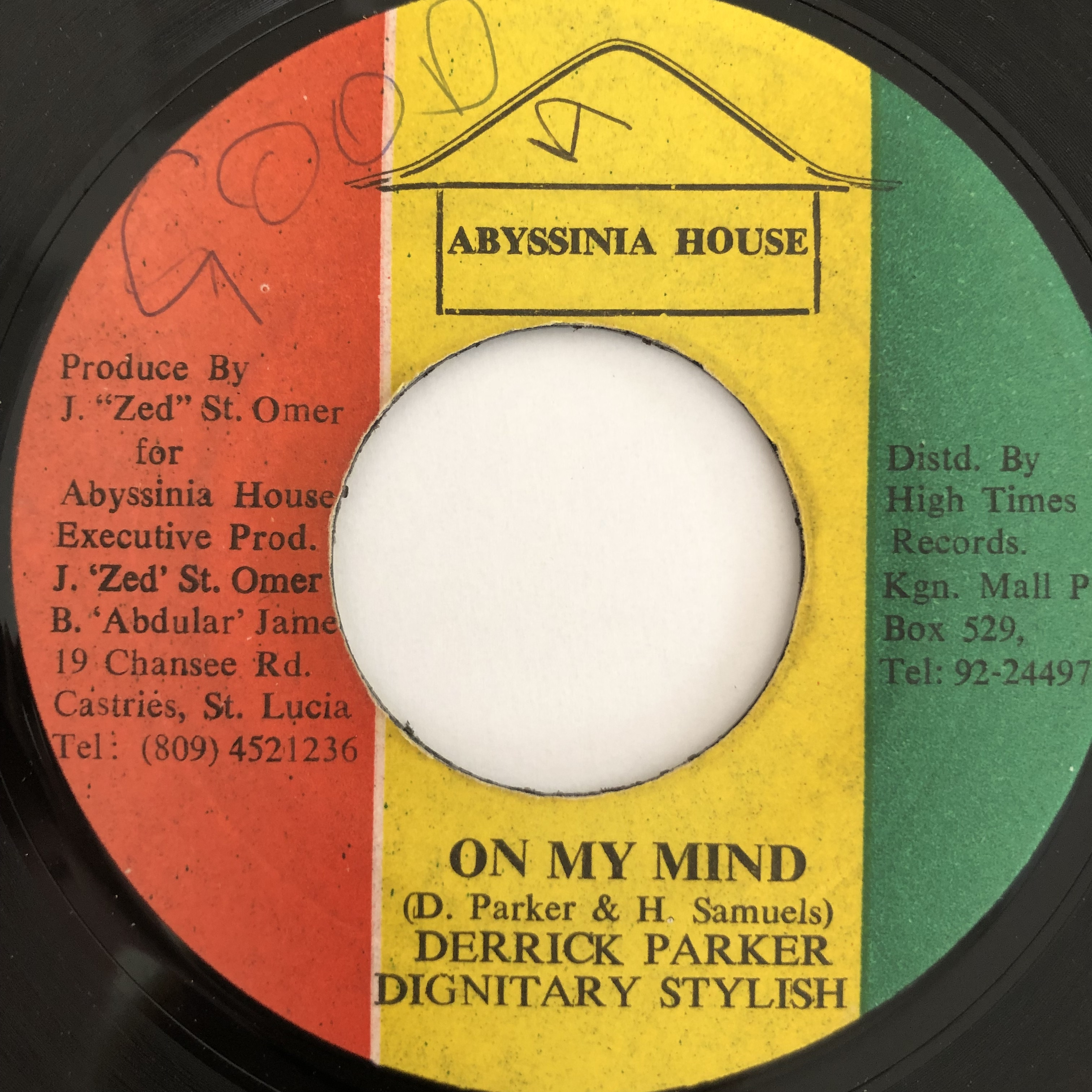 Derrick Parker & Dignitary Stylish - On My Mind【7-20098】