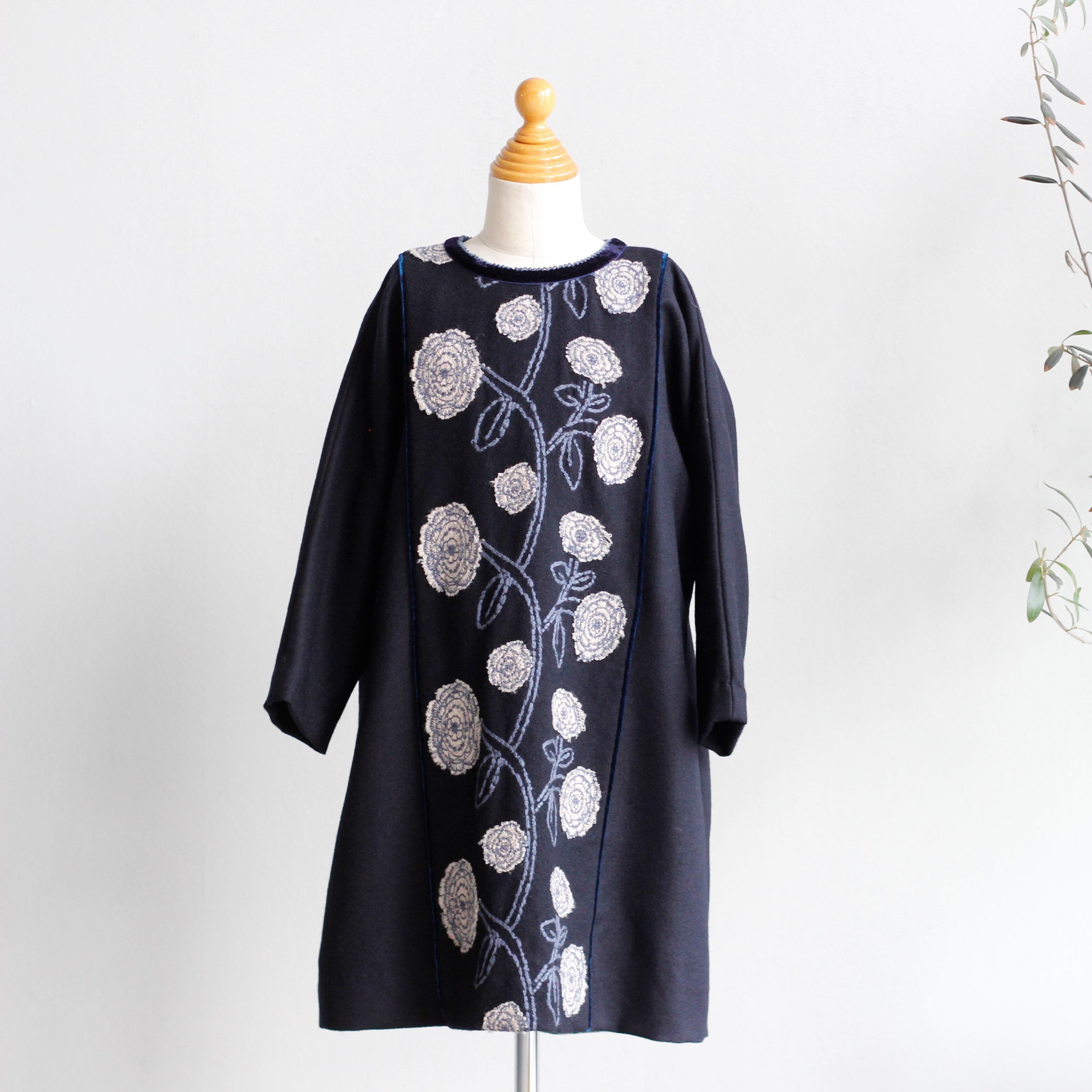 《mina perhonen 2016AW》giardino ワンピース / navy / 110・120cm