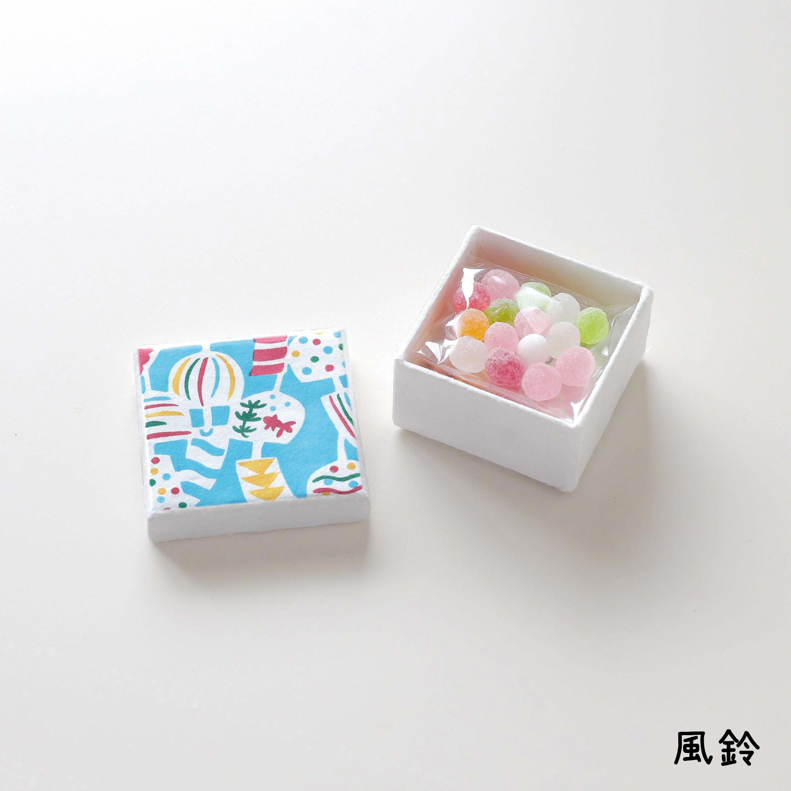 手摺り型染めミニ小箱 京飴セット