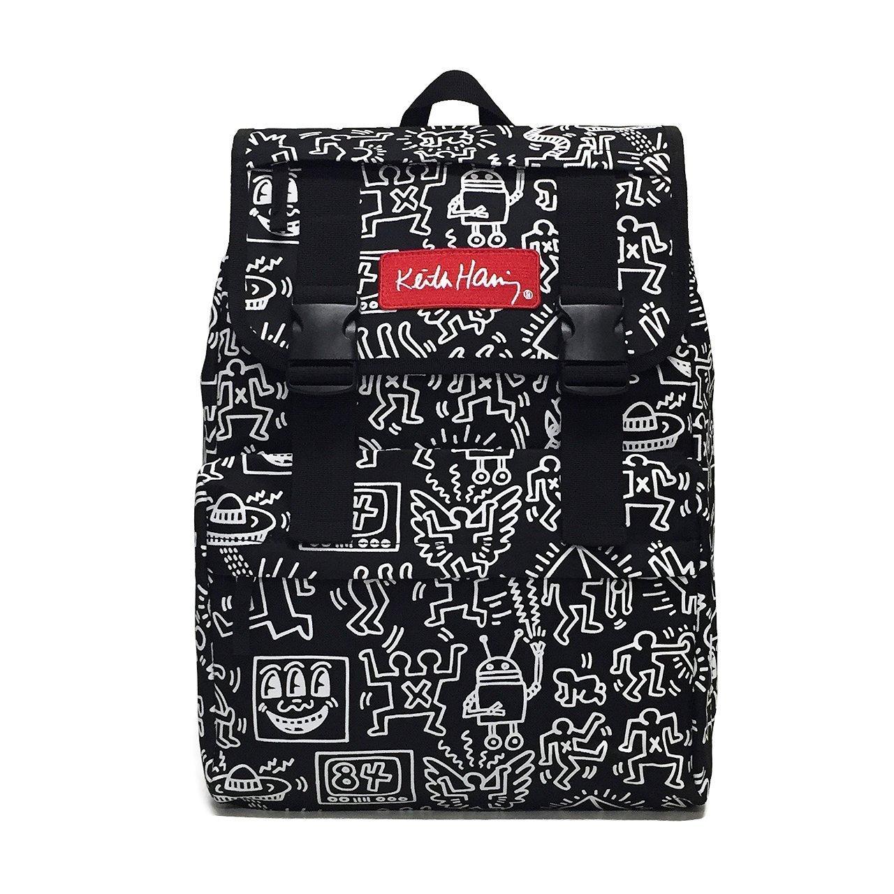 Keith Haring(キース・ヘリング) 総柄フラップリュック バックパック Black(ブラック) CV15001