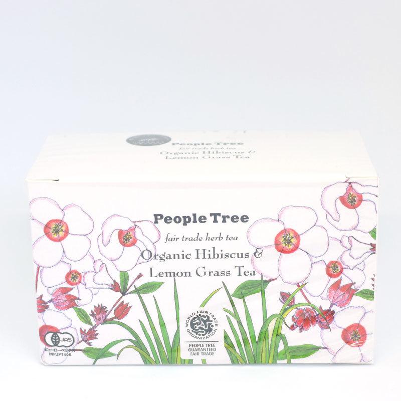People Tree(ピープルツリー)オーガニックハーブティー・ティーバッグ・ハイビスカス&レモングラス