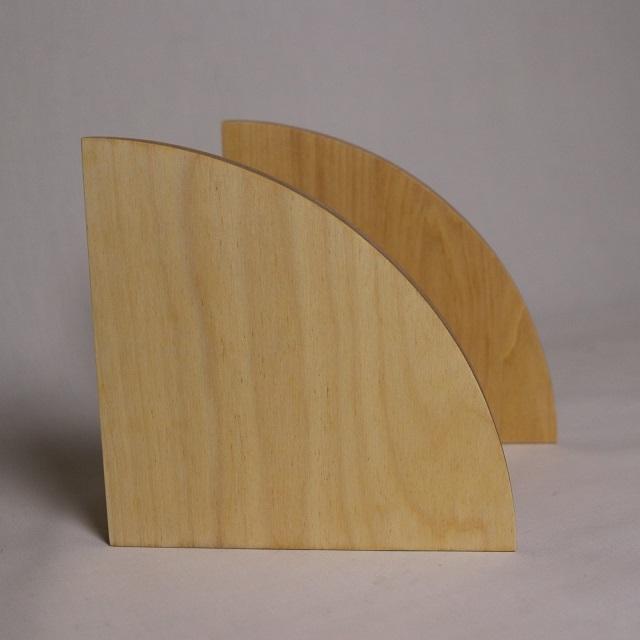 ブックエンドまる / 木製&スチール