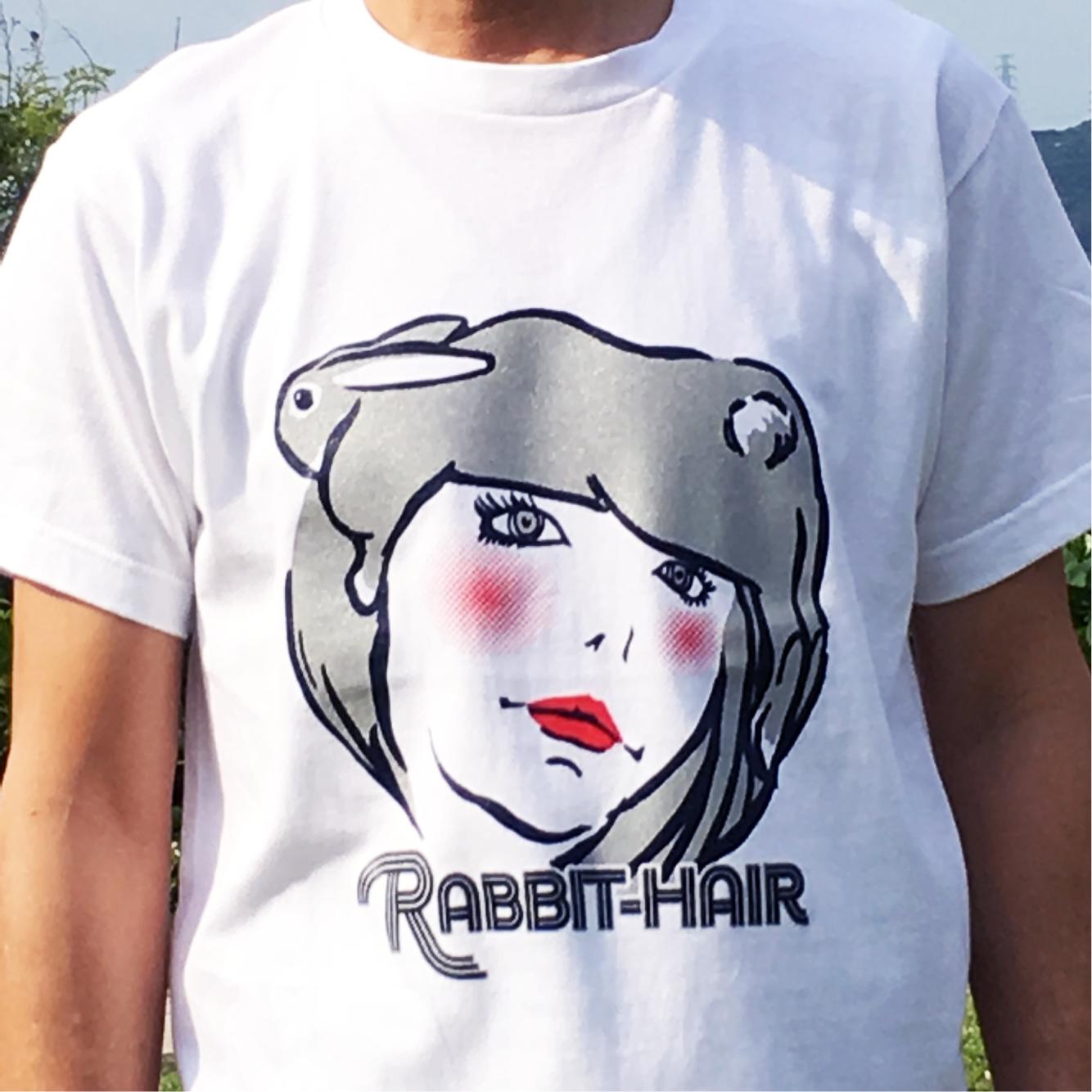 【在庫限り】ラビットヘアー Tシャツ(シルバー)