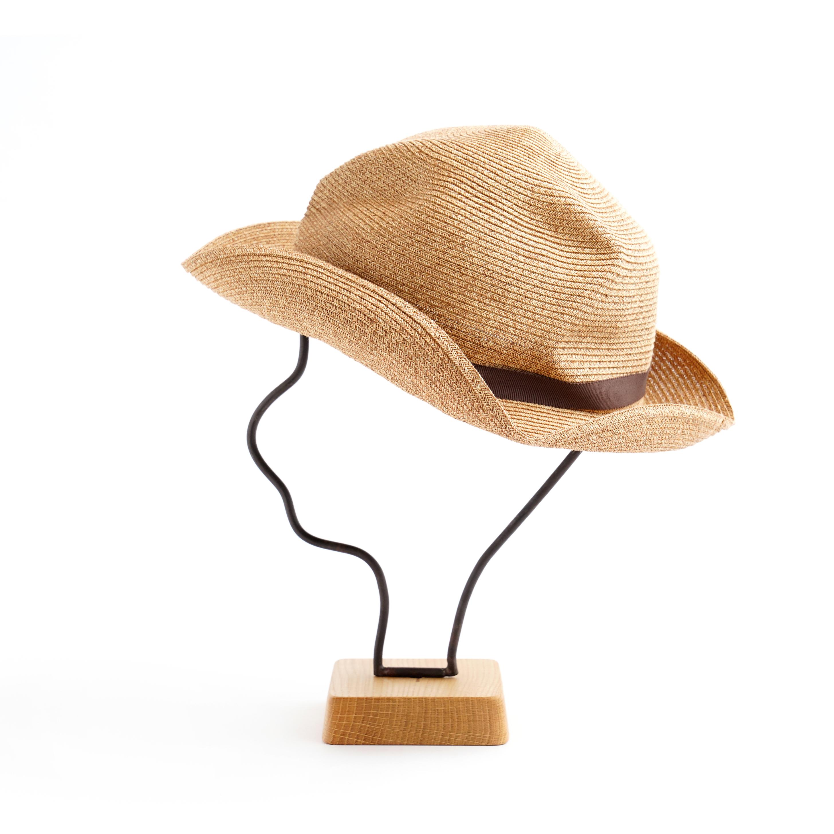 mature ha./BOXED HAT 105 mixbrown×dark brown