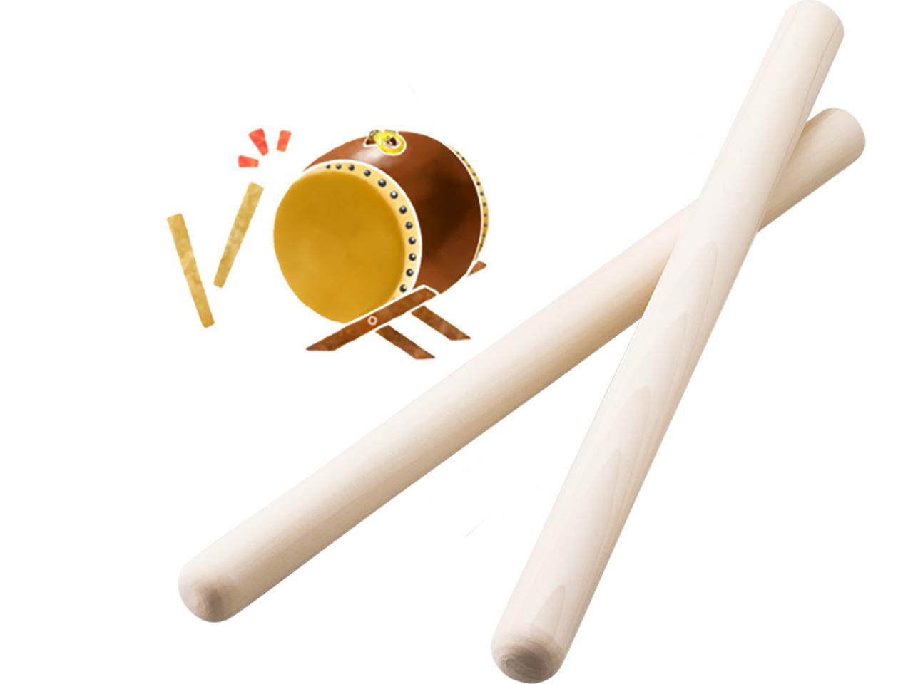 ホオノキの太鼓バチ 3Φ×42cm(2本組)大人におすすめサイズです!