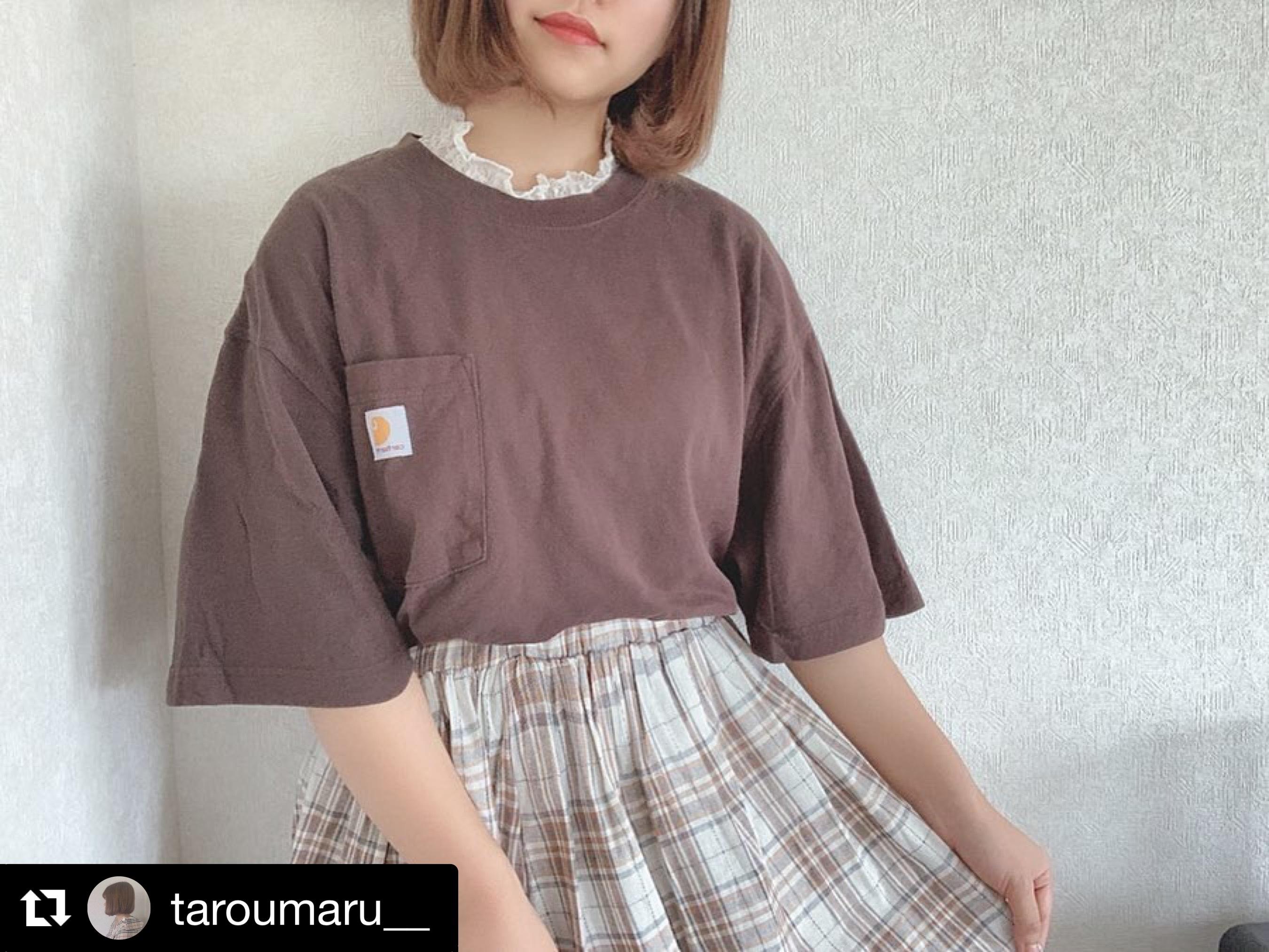 【送料無料】 ナチュラルコーデに♡ オーバーサイズ シャツ × チェック柄 スカート カジュアル セットアップ