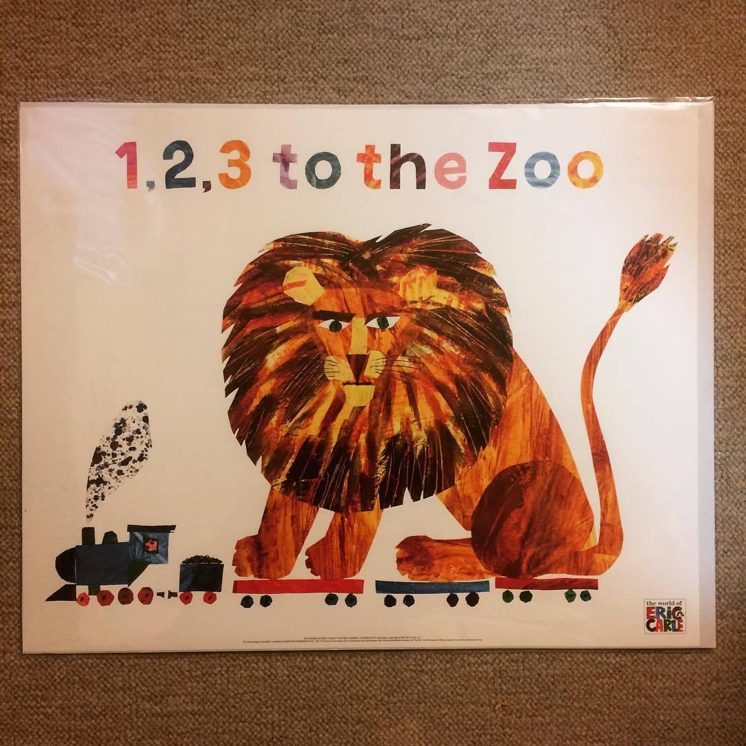 ポスター「エリック・カール 1、2、3どうぶつえんへ ライオン」 - 画像1