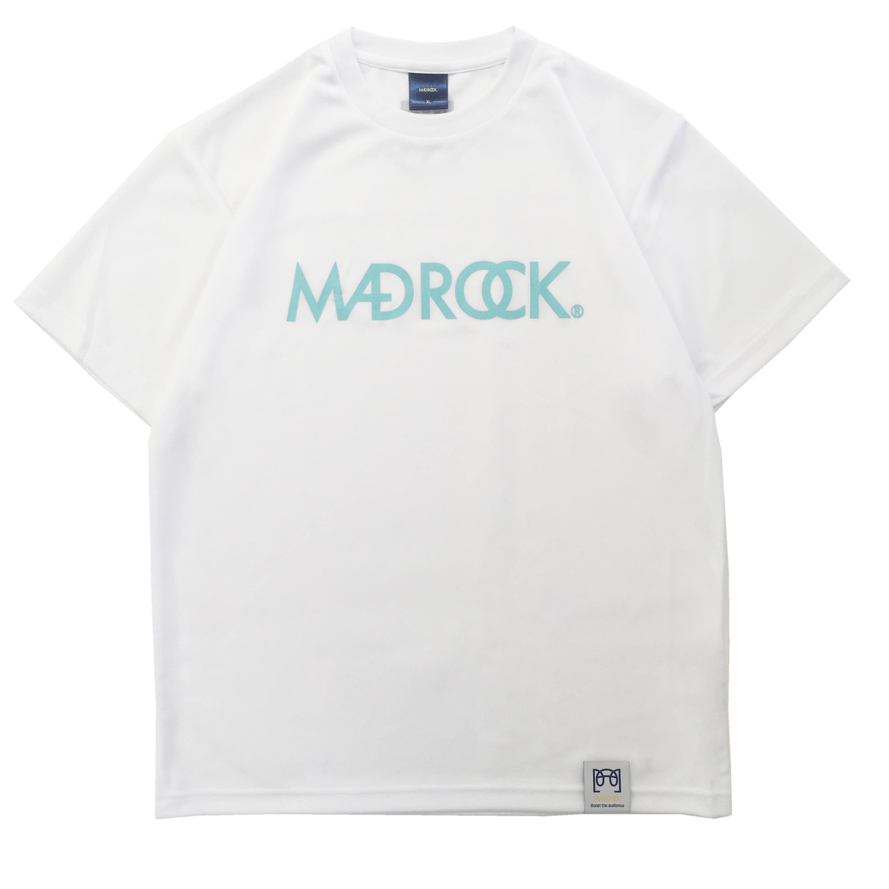 【新作/オンラインストア限定】マッドロックロゴ Tシャツ / ドライタイプ / ホワイト & アクア