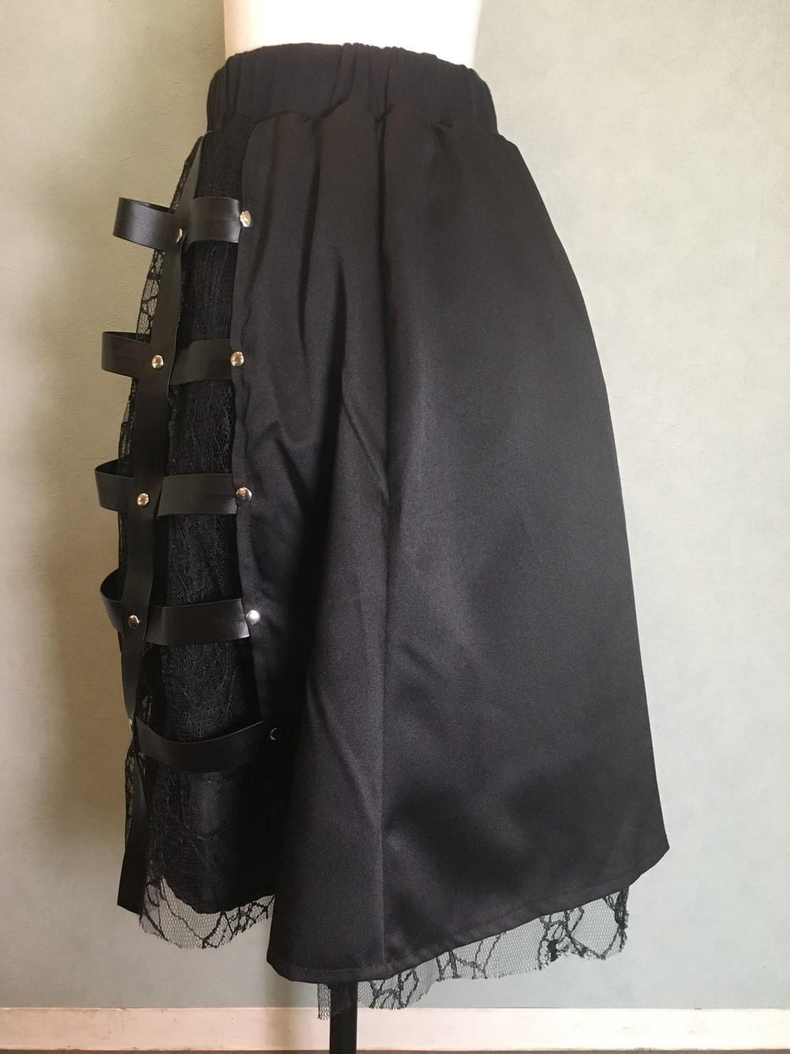 鳥籠レーススカート