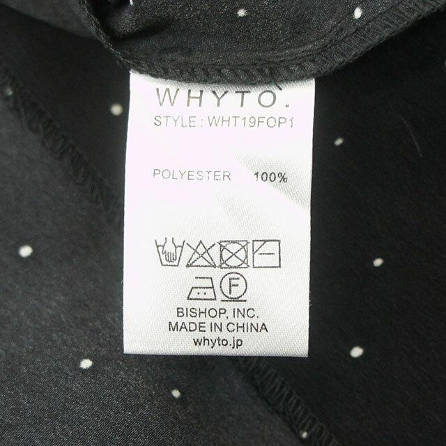 WHYTO. ホワイト ドットワンピース (品番wht19fop1)