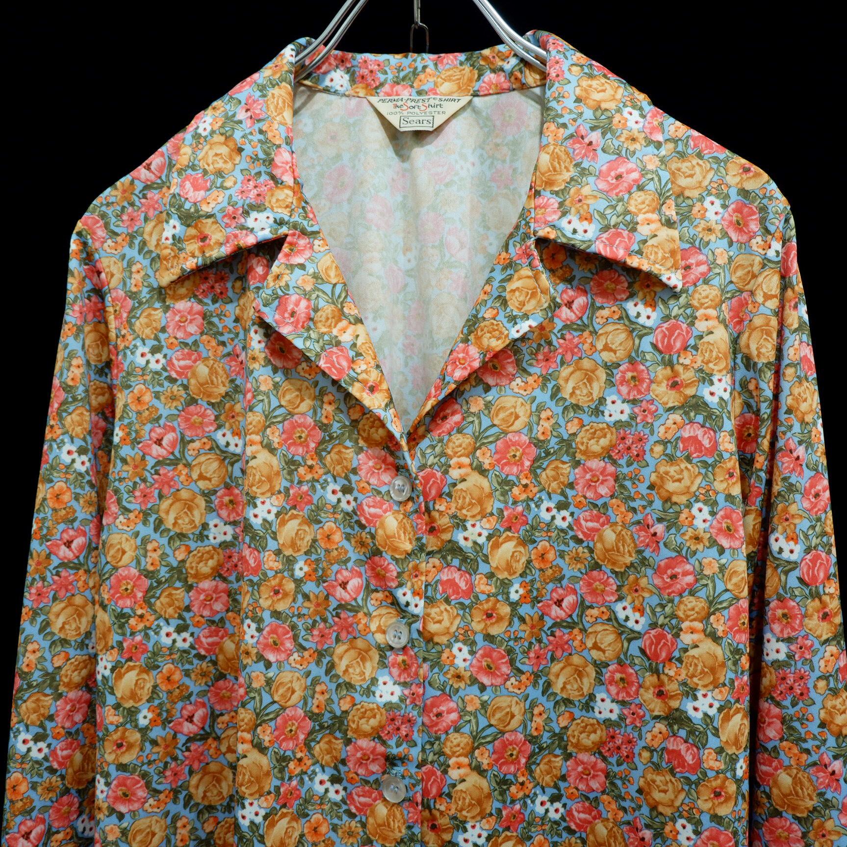 """アメリカ古着 1970s vintage """"Sears"""" ポリエステル シャツ"""