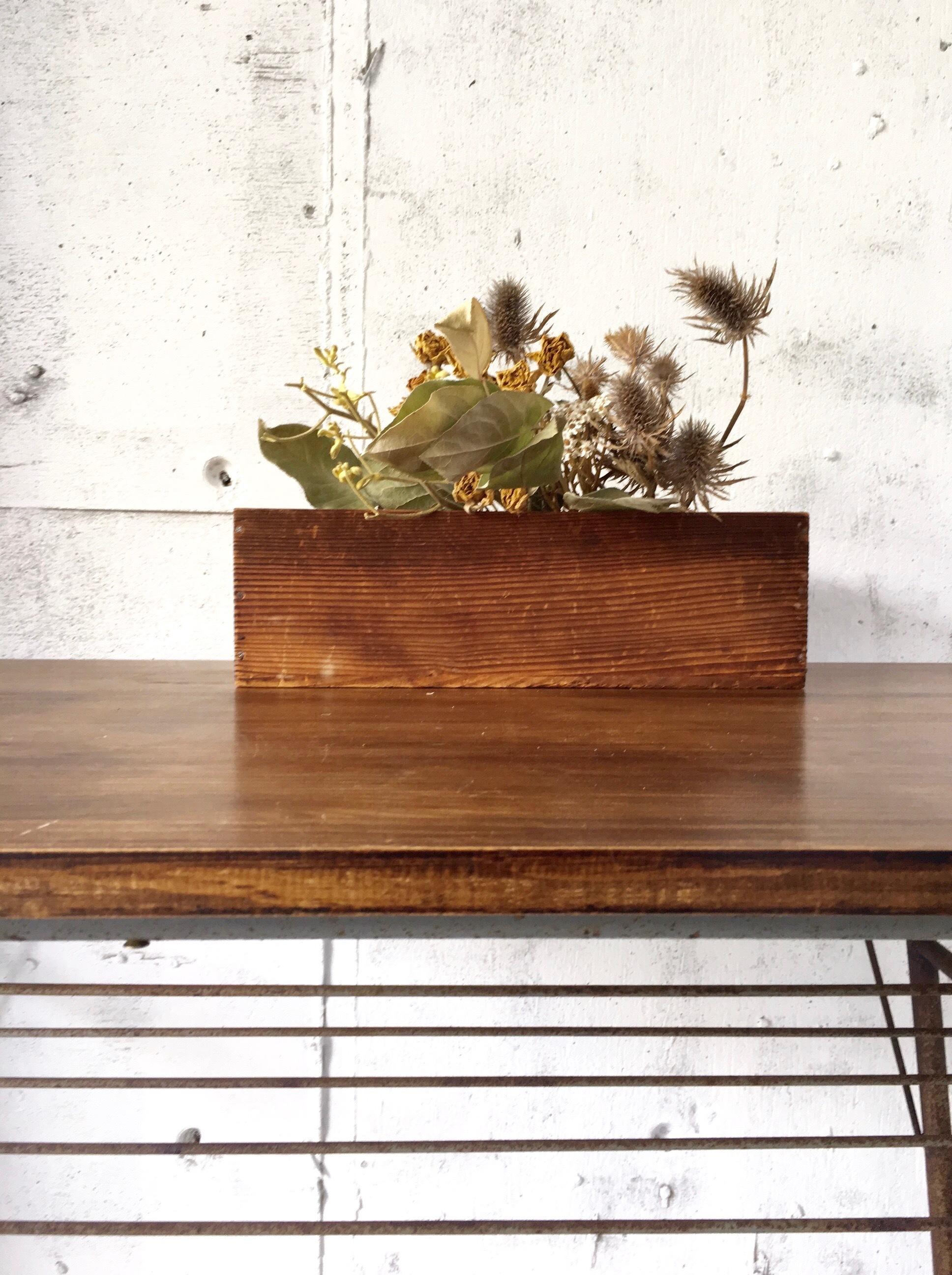 レトロな木箱[古家具]