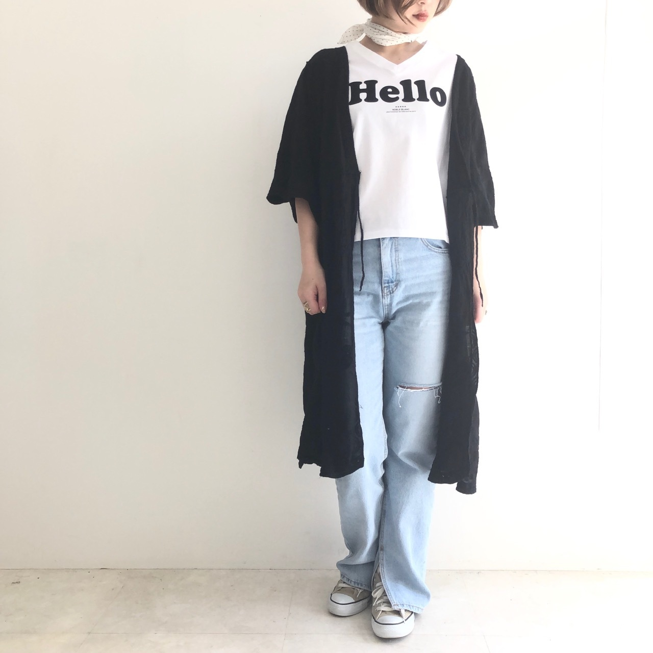 【 ROSIEE 】刺繍ロングガウン