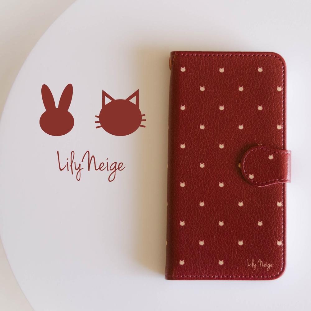 カワイイ猫の手帳型スマホケース