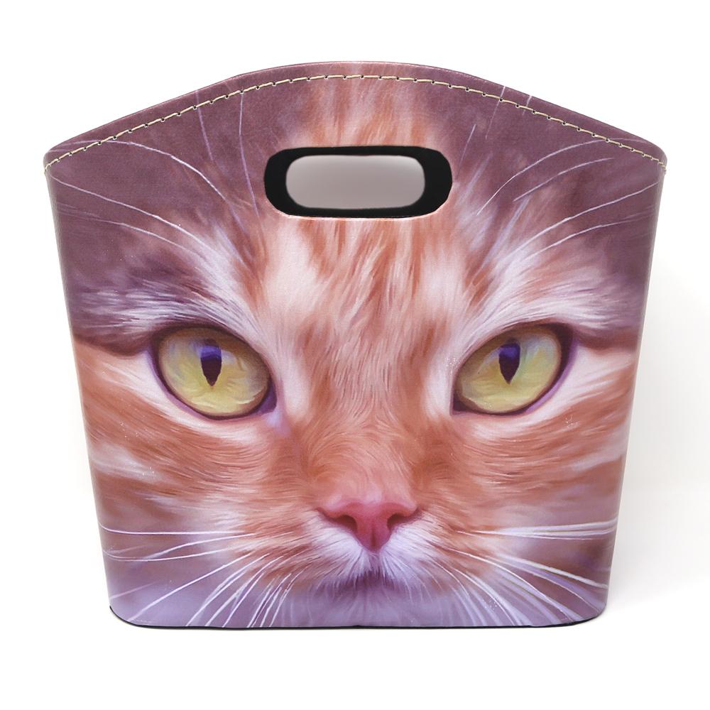 猫バスケット(猫アップ)Lサイズ