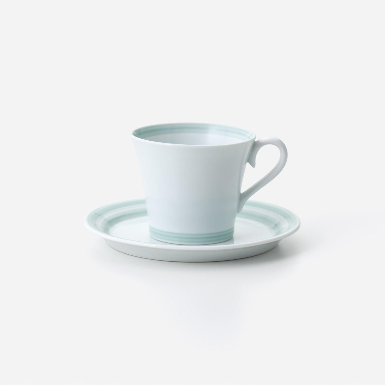 青磁千段 珈琲碗皿