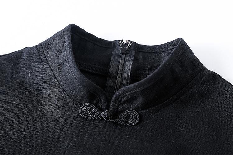 ヴィンテージ ドラゴン刺繍半袖チャイナパンクドレス
