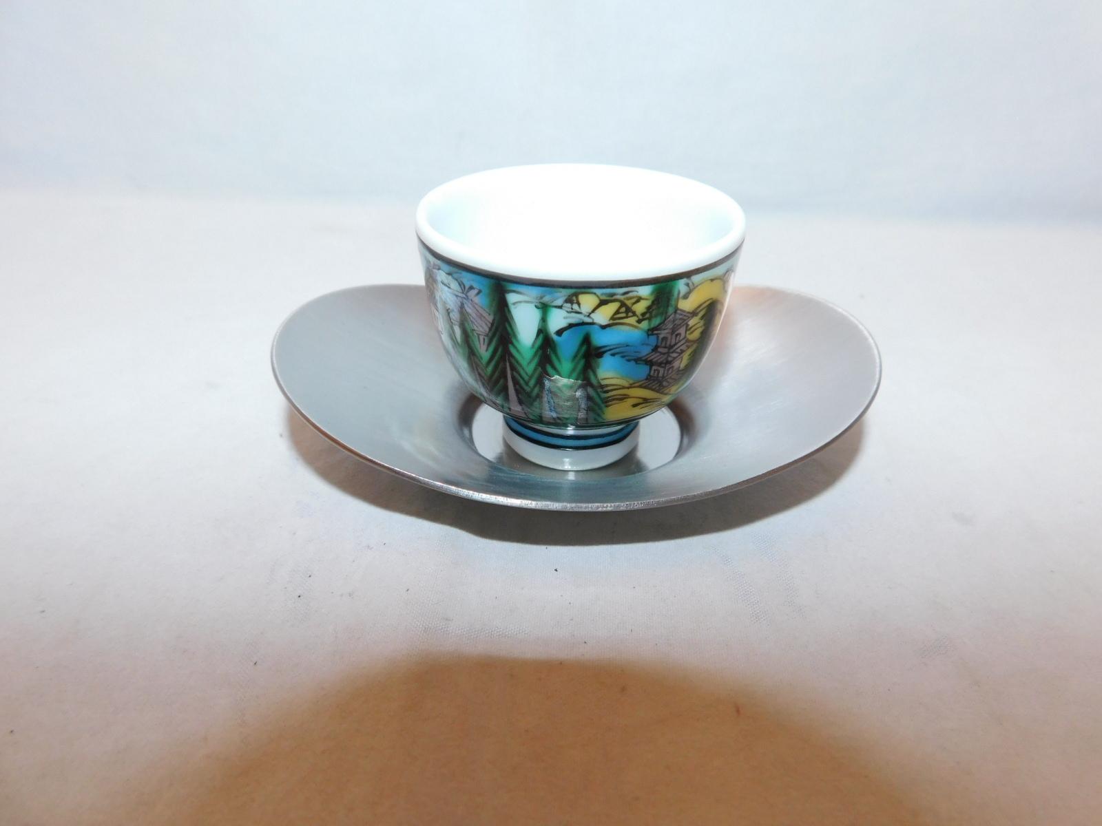 シルバー色楕円茶托(5客) lacquer Japanese tea four saucers (No25)