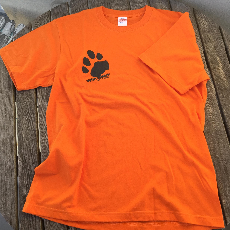 雪豹Tシャツ オレンジ ナイトカラー