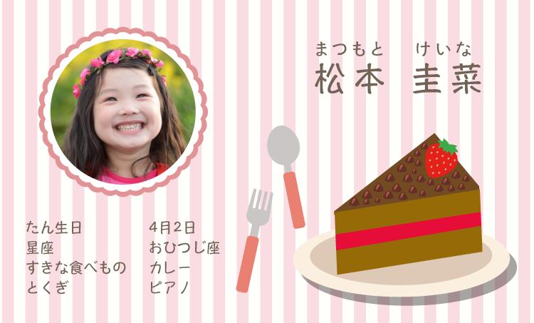 ママ名刺・子ども名刺 チョコレートケーキ 100枚