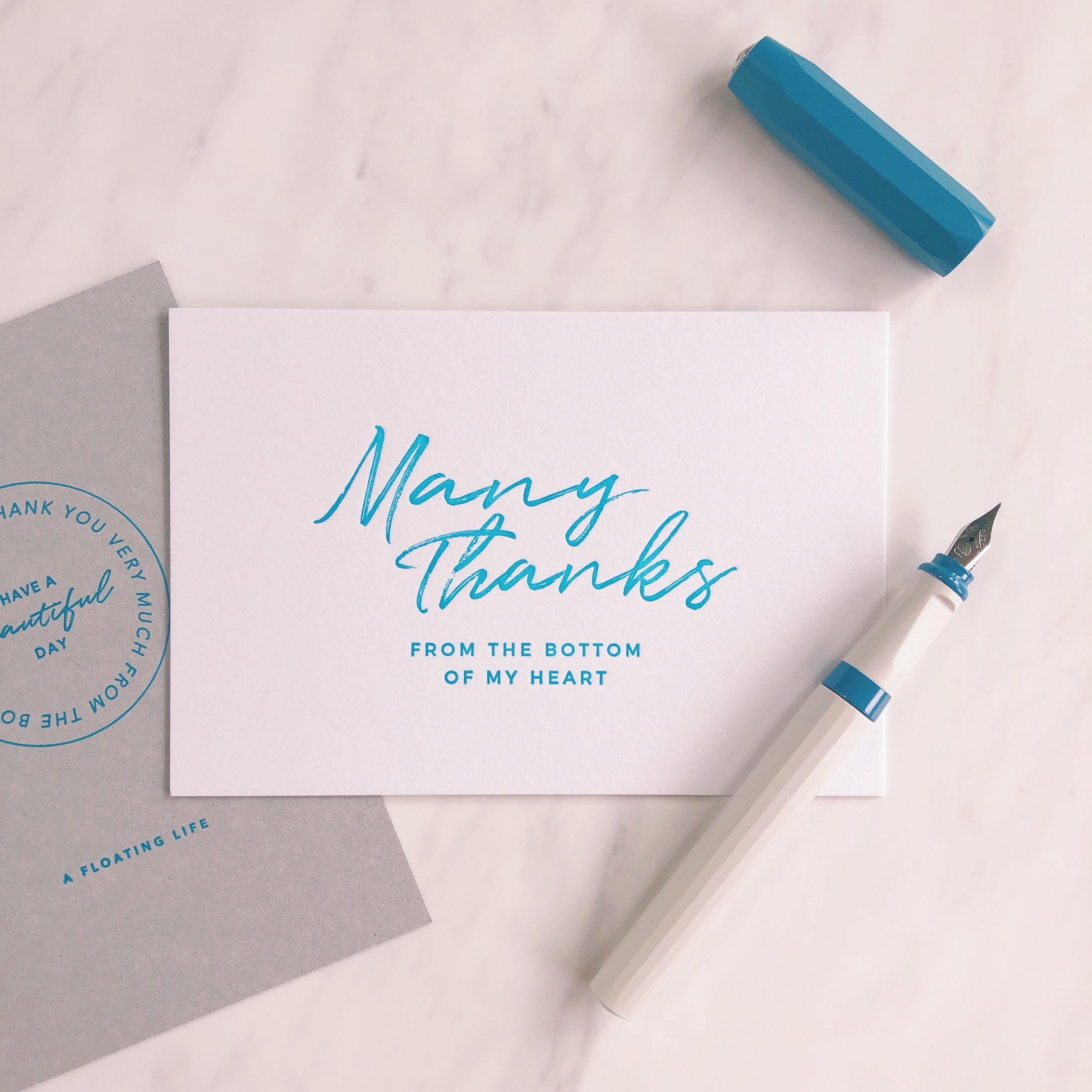 活版印刷のポストカード/ サンキューA