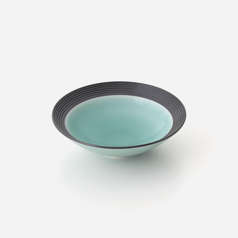 青磁黒彩 中鉢