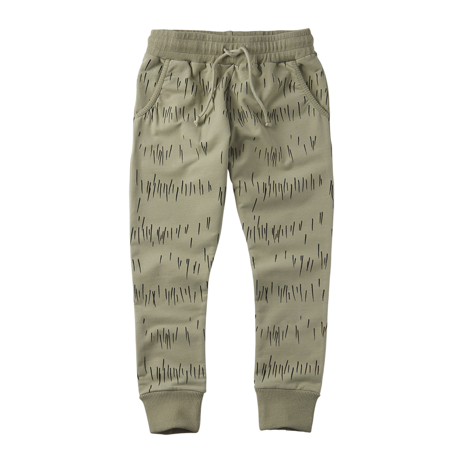 《MINGO. 2020SS》Slim fit jogger / grass print oak