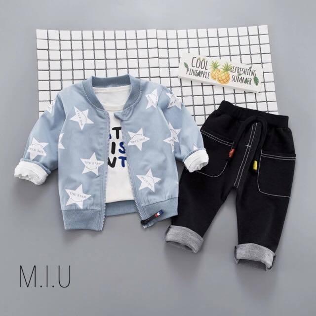 星柄ジャケット3点セット #MIU589