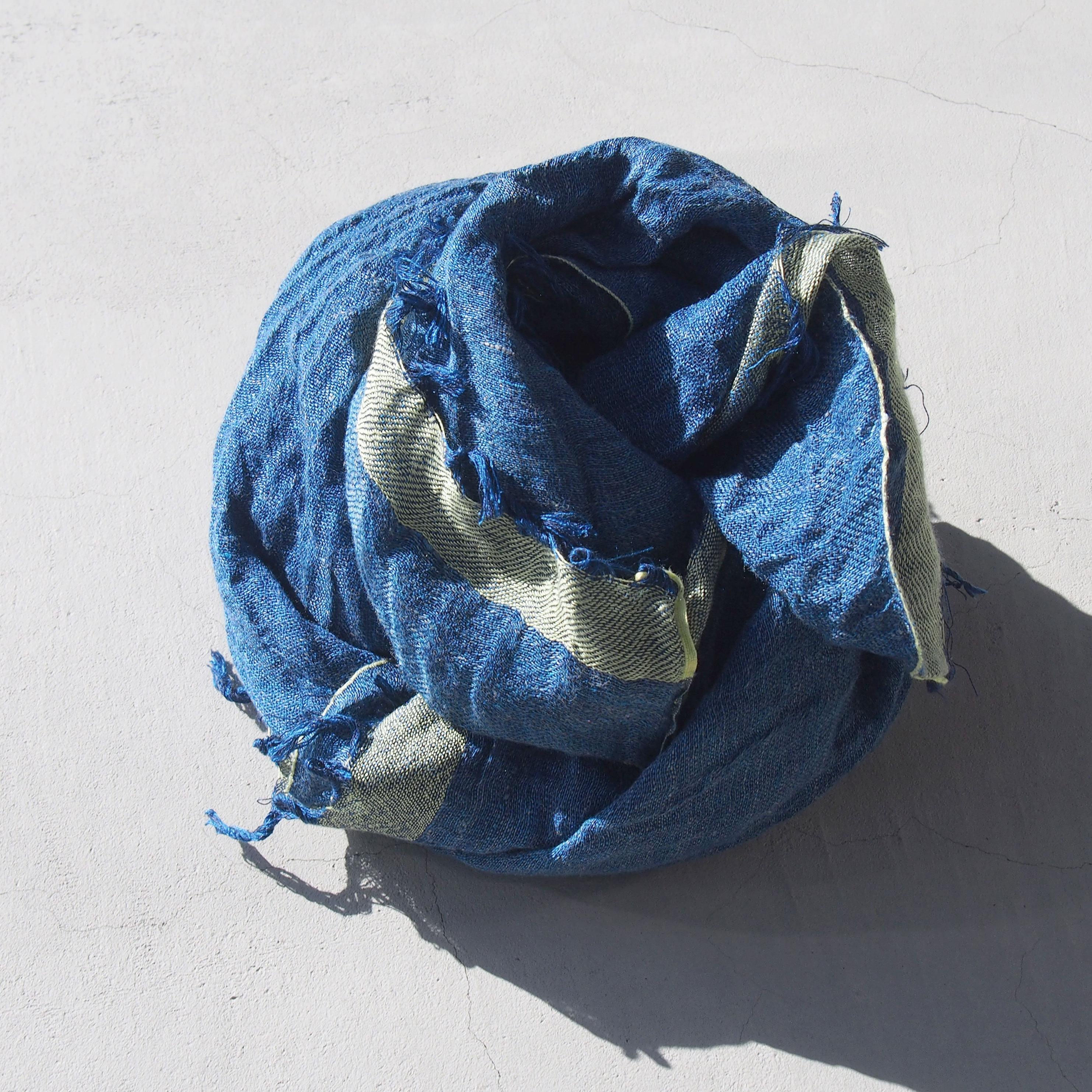 COOVA スクエアストール Blue
