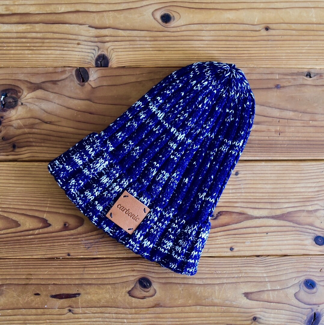 carbonic LEATHER TAG beanie