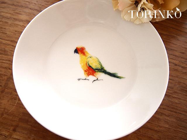 コガネメキシコインコ お皿 中サイズ(オウム・インコ・鳥)