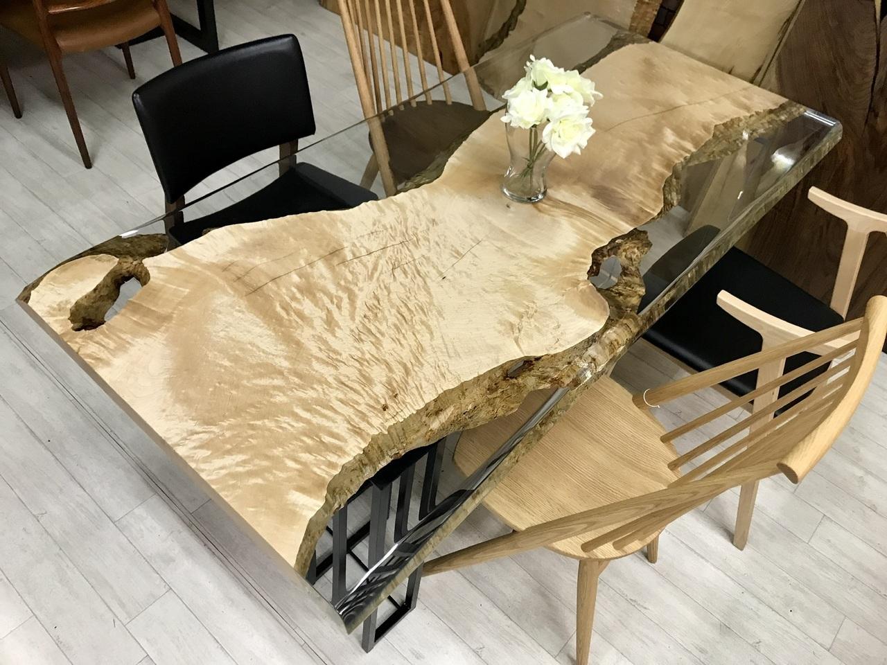 ≪浅草店≫メープル  レジンテーブル 1800×850×45 19732-1
