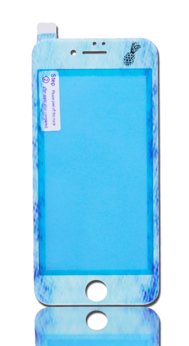 iPhone液晶カバー|デニム & パイナップル