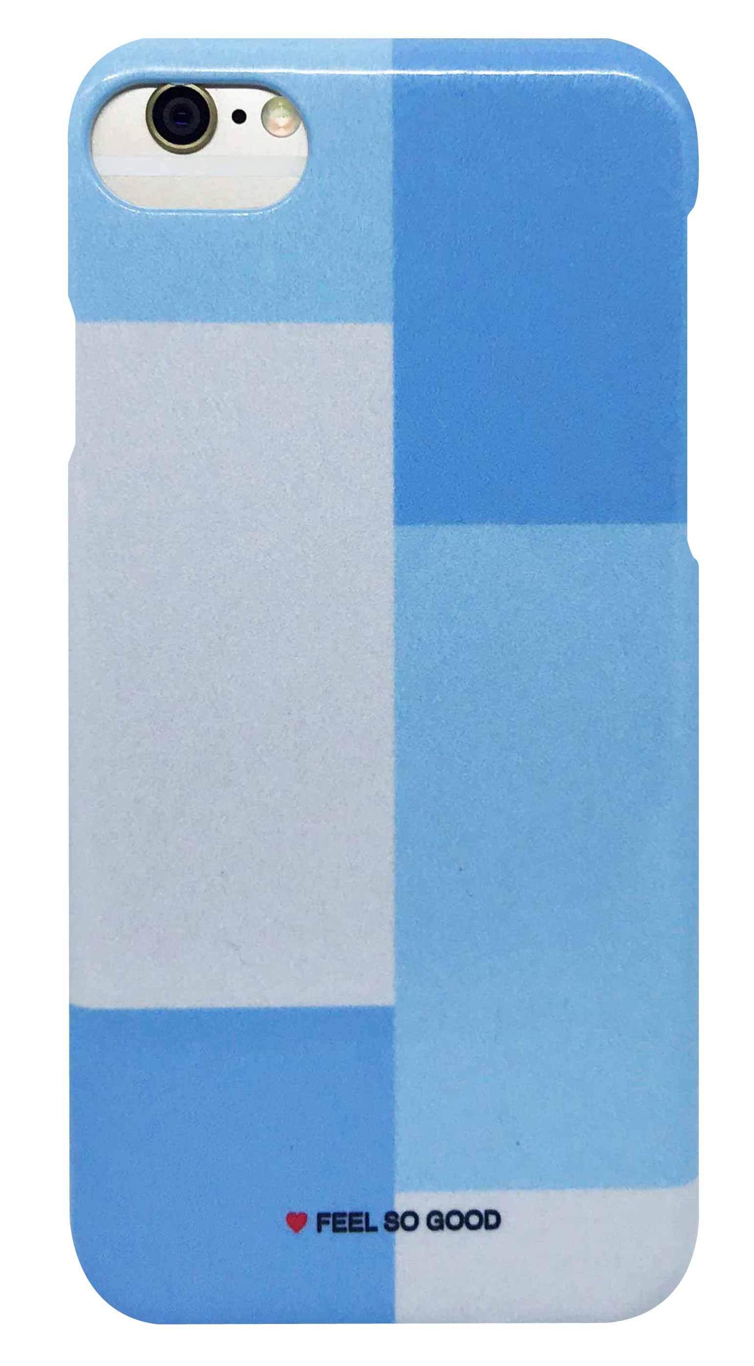 パネル カラー ・ グレー × 青 つや有りハードケース