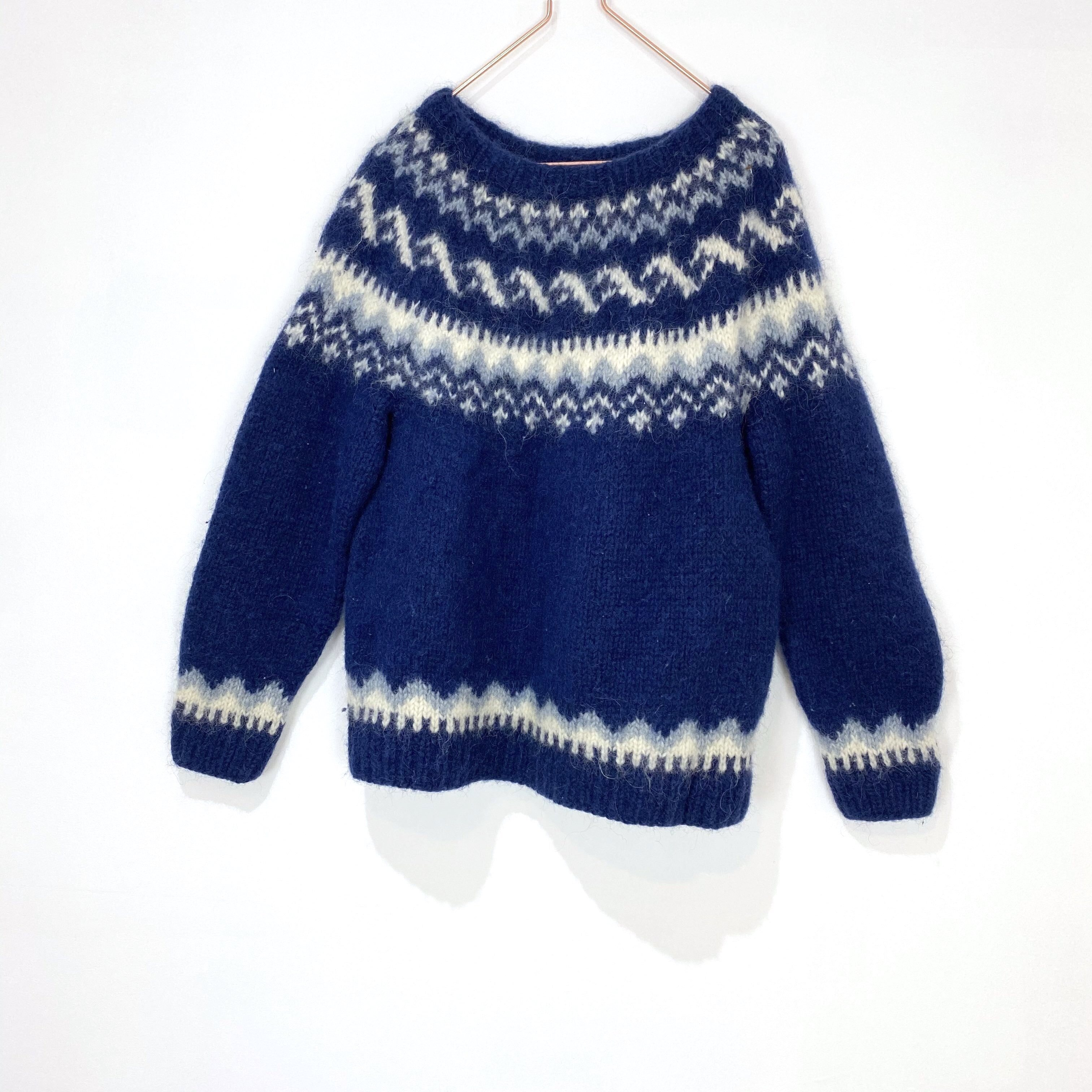 ◼︎90s Nordic pattern sweater from Iceland◼︎