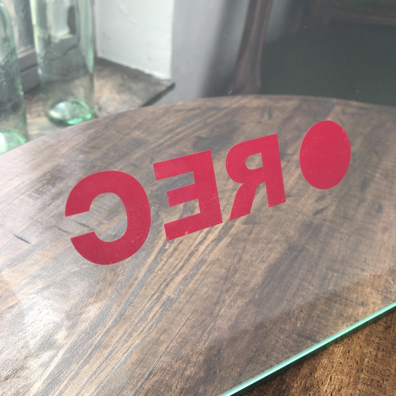 ドライブレコーダーステッカー(大) ● REC  赤ステッカー 1枚 『送料無料』