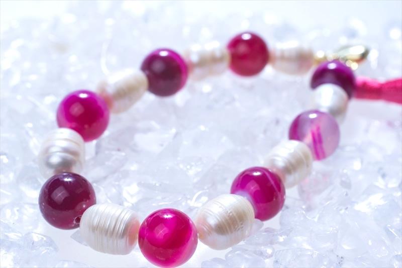 Onyx & Pearl【パワーストーンブレスレット 】 - 画像1