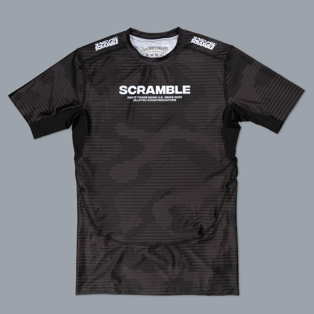 SCRAMBLE TACTIC ラッシュガード ブラック 半袖