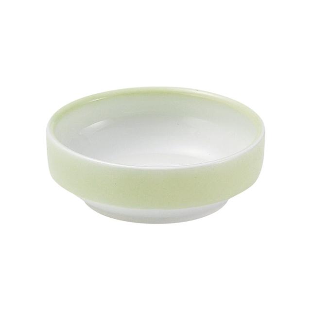【1713-2780】強化磁器 12.5cm すくいやすい食器 ぼかし若草
