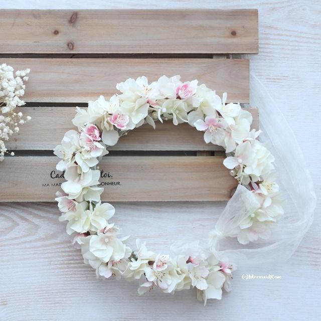 花冠sakura桜ソメイヨシノ&アジサイIVOLY