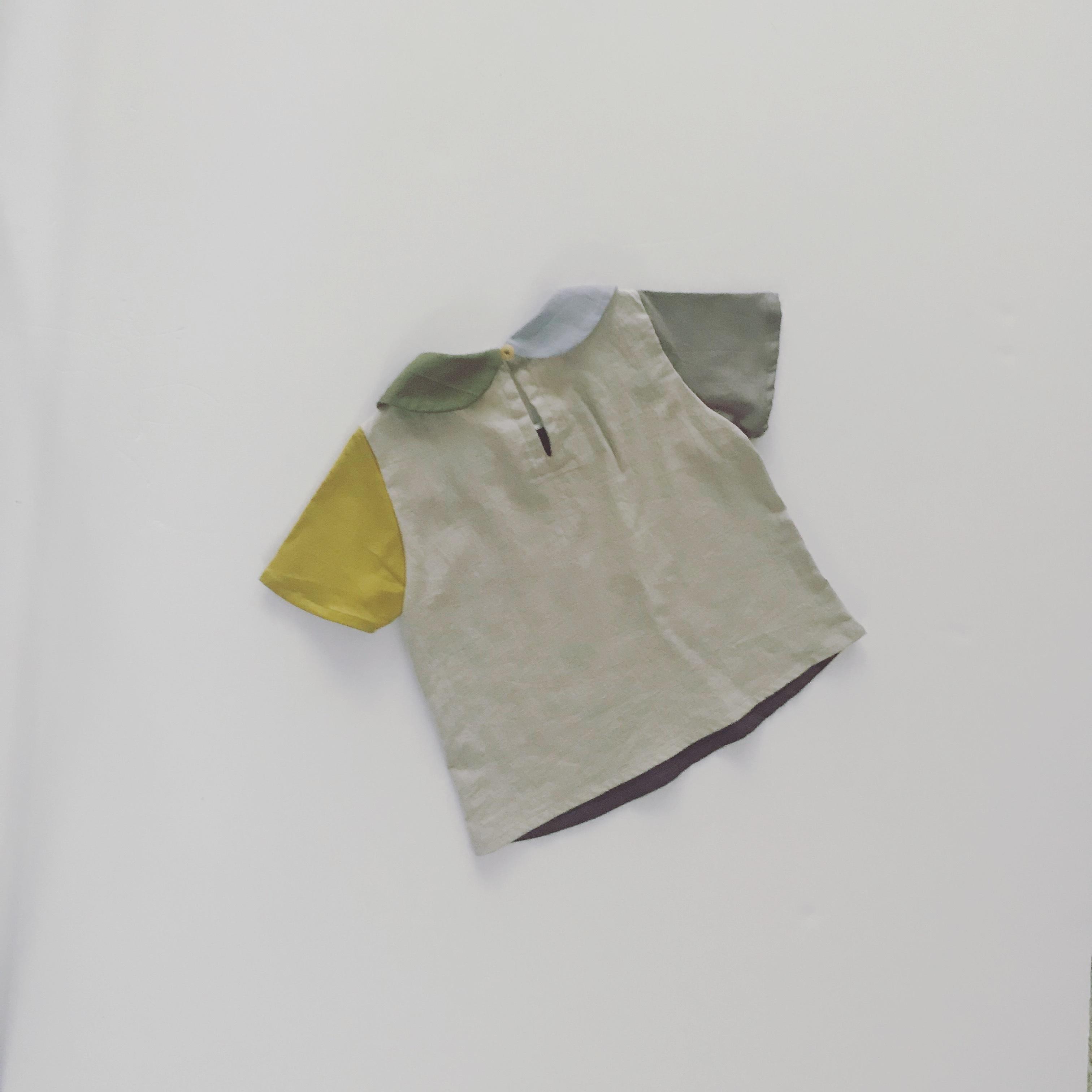 03丸襟パレットシャツ