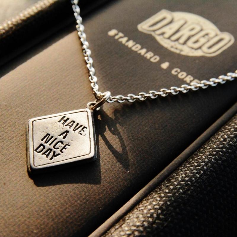 "【DARGO × Hajime Okazaki】""HAVE A NICE DAY"" Traffic Silver Necklace"