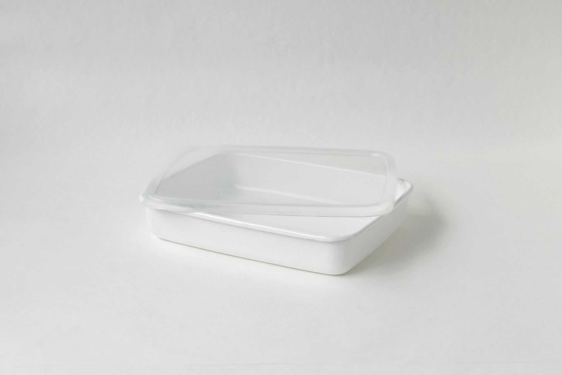 野田琺瑯 レクタングル浅型M シール蓋つき